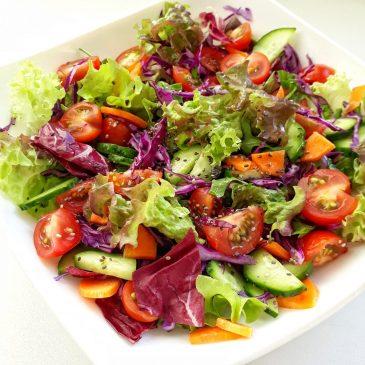 Радужный овощной боул