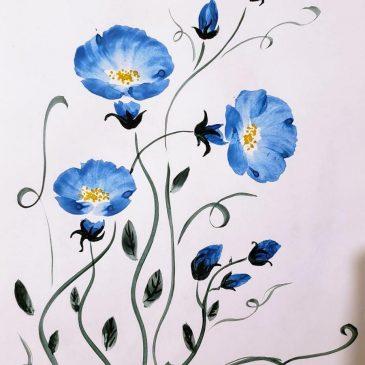 Цветы в китайской живописи — вьюнок