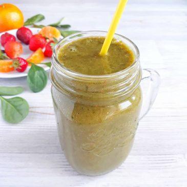 Витаминный шпинатный смузи с клубникой   Vitamin Spinach Smoothie with Strawberry