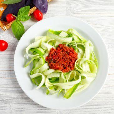 Raw-спагетти с вялеными томатами   Raw spaghetti with sun-dried tomatoes