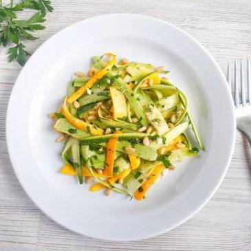 Салат из цукини с цитрусовым соусом   Zucchini salad with citrus sauce