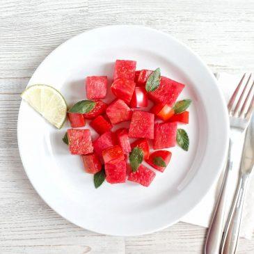 Пикантный салат с арбузом и томатами | Savory salad with water melon and tomatoes