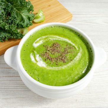 raw-суп с кейлом и имбирным кремом | raw soup with kale and ginger cream